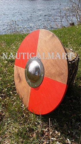 NauticalMart Renaissance Armor Small Quadrant Viking Style Round Shield 20'' by NAUTICALMART