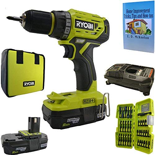 Ryobi P252 Brushless Drill/Driver Bundle, 18-Volt ONE+ Lithium-Ion Cordless with 34 Piece Impact Driving Kit and Home Improvement Book Review