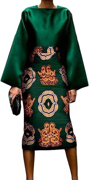dahuo - Conjunto de Blusa y Falda para Mujer Verde Verde US XX ...