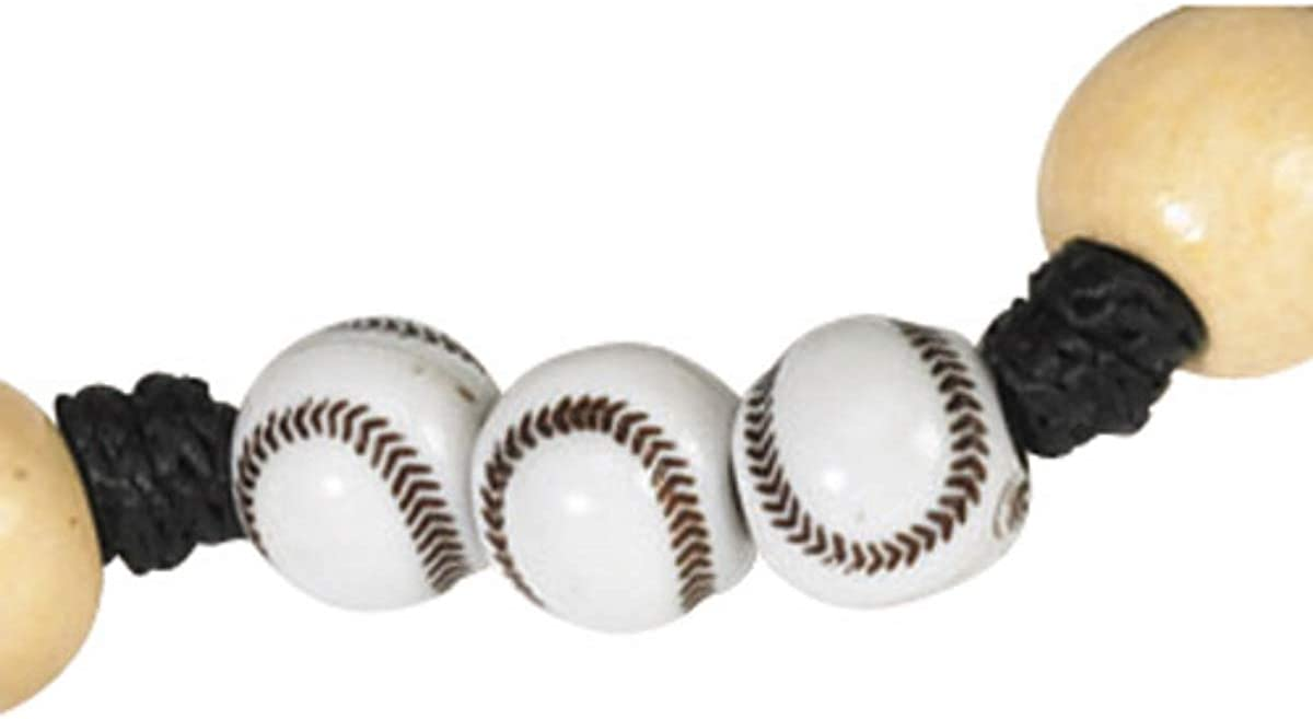 CB Athlete Protection Baseball (Softball) Shape Bead 20 Inch Corded Athletic Wear Sports Rosary: Jewelry