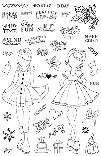 Prima Marketing Clear Stamp - Prima Marketing Julie Nutting Planner Clear Stamp -Holiday Bliss