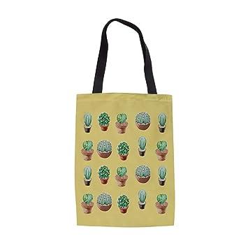 ZXXFR Bolsos Planta Verde Cactus Imprimir Mujer Ropa Casual ...