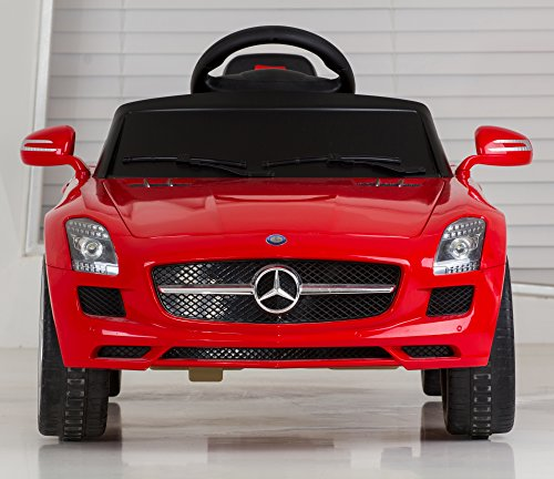 Vroom rider mercedes benz sls amg rastar 6v battery for Mercedes benz service charges