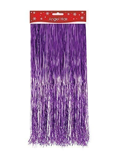 Angel Hair Christmas Decoration.Pink Purple Christmas Xmas Decoration Angel Hair Tinsel Shredded Tinsel Decorate Tree