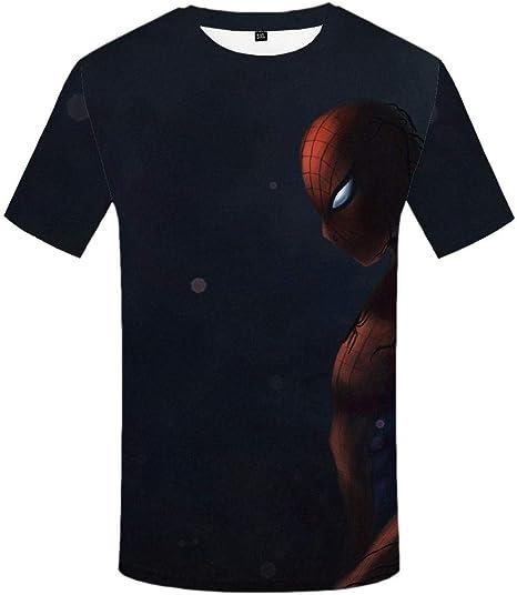 Htekgme Camiseta De Impresión 3D Venom Hombres Anime Ropa De Moda De Verano Camisa Negra Impreso Manga Corta Hip Hop Streetwear: Amazon.es: Deportes y aire libre