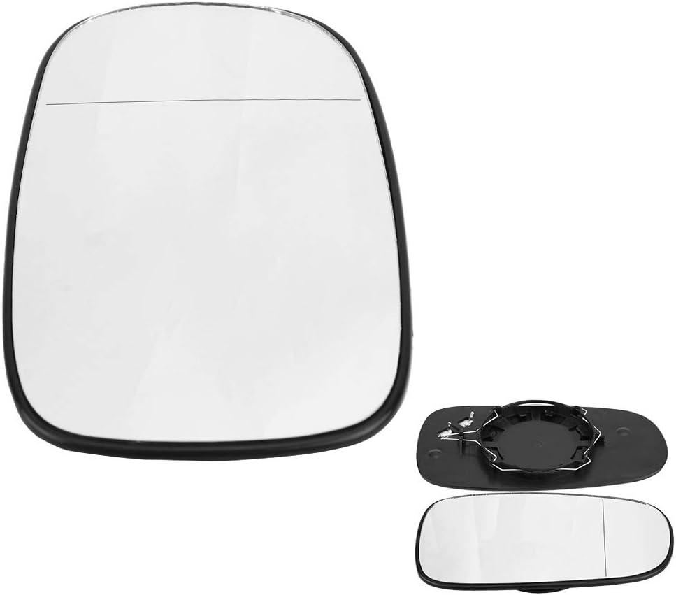 Izquierda Puerta lateral espejo de ala ancha de cristal Compatiable con /ángulo 93 95 2003-2010 Espejo lateral de vidrio