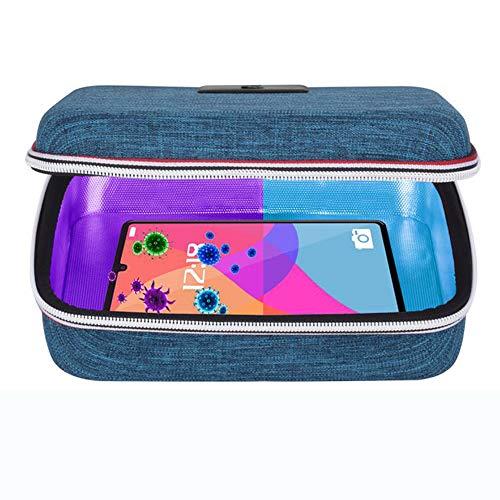 Sterizzatore UV Sterilizzatore UVC Sanitizer Sterilizer Sterilizzazione Lampada Germicida Portatile 99.9% Ultravioletto Lamp Sanificazione Disinfezione USB Sanificatore Borsa Box per Phone Telefono