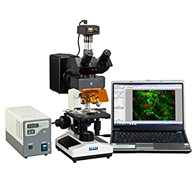 OMAX 40X-2500X Advanced EPI-Fluorescence Trinocular Biological Microscope with 14MP USB Digital Camera
