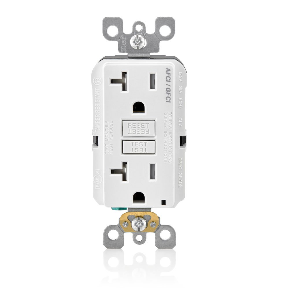 Leviton Agtr2 W Smartlockpro Dual Function Afci Gfci Receptacle 20 Fact Sheet The Is An Arc Fault Circuit Interrupter Amp 125v White