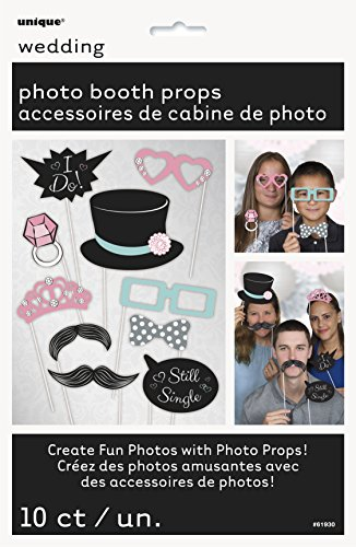 Wedding Photo Booth Props 10pc