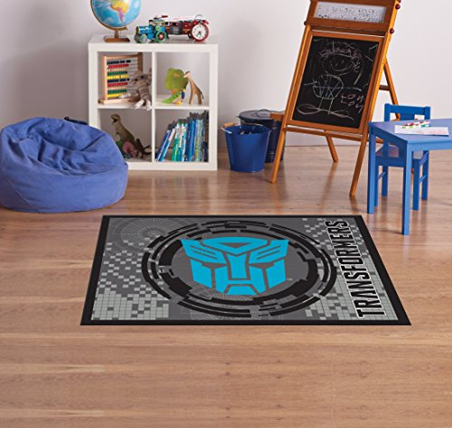 (Hasbro Transformers Rug HD Digital Blue Autobots XFMR Bedding Room Décor Wall Decals Area Rug s, 40
