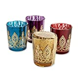 Kate Aspen Indian Jewel Henna Votives Assorted (Set of 4)