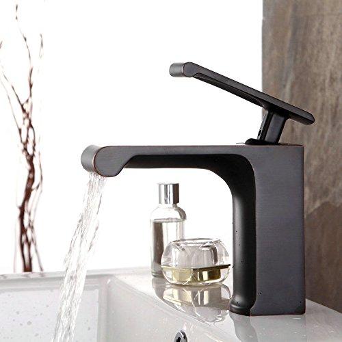 AOLOR Becken Heißes und kaltes Wasser Wasserfall Wasserhahn Küchen Mischbatterie Waschtischarmaturen Mixer Spültisch Armatur Bad Spülbecken Spültischbatterie badezimmer Küchenarmatur Edelstahl