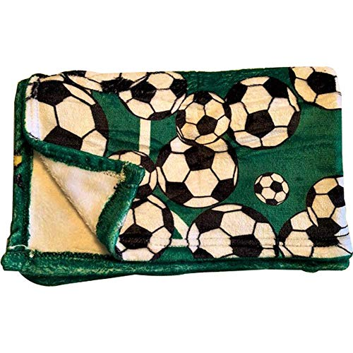 Soccer Fleece Throw Blanket - Kids Toddler Plush Fleece 40