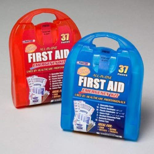 (Rapid Care First Aid CD-80006 37 Piece All-In-One First Aid Kit, Pack of 6)