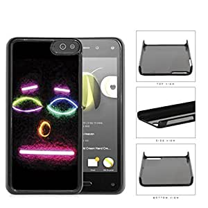 Smiley Face Emoji In Neon Colors Hard Plastic Snap On Cell Phone Case Amazon Fire