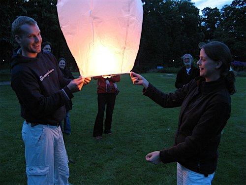 10 Sky Lanterns - White