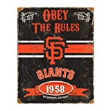 Party Animal MLB Embossed Metal Vintage Pub Signs,San Francisco Giants