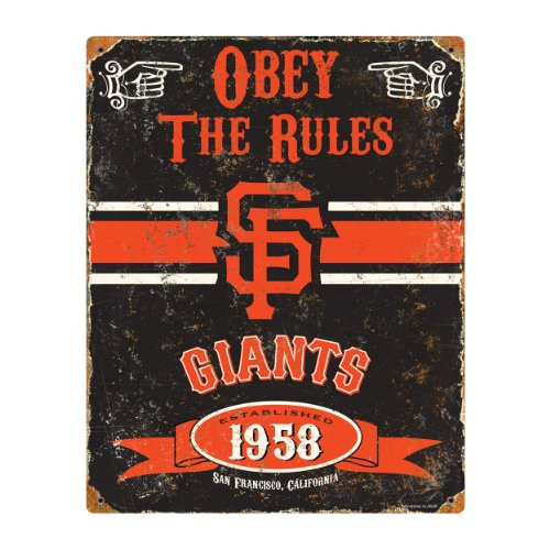 (Party Animal MLB Embossed Metal Vintage Pub Signs,San Francisco Giants)