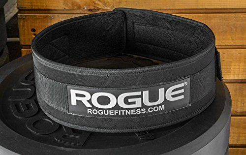 Rogue Fitness 4'' Nylon Weightlifting Belt | (Medium) (Fitness Equipment Rouge)