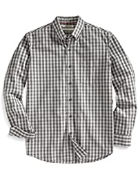 Amazon Brand - Goodthreads Men's Standard-Fit Long-Sleeve Gingham Slub Shirt