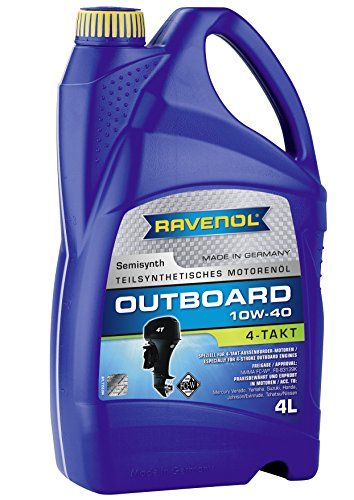 Ravenol J1V2122 10W-40 4-Stroke Marine Oil - Outboard Semi Synthetic NMMA FC-W Approved (4 Liter) (Four Stroke Yamaha Marine Engine)
