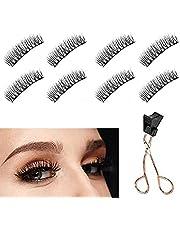 Dual Magnetic Eyelashes, Magnetic Lashes without Eyeliner, No Glue Needed, Best 3D Reusable False Eyelashes with Applicator