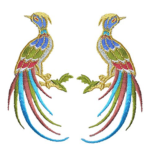 Embroidered Appliques Patch Embroidery Stickers Craft Sewing Repair Embroidered Iron (Bird Embroidered Iron)