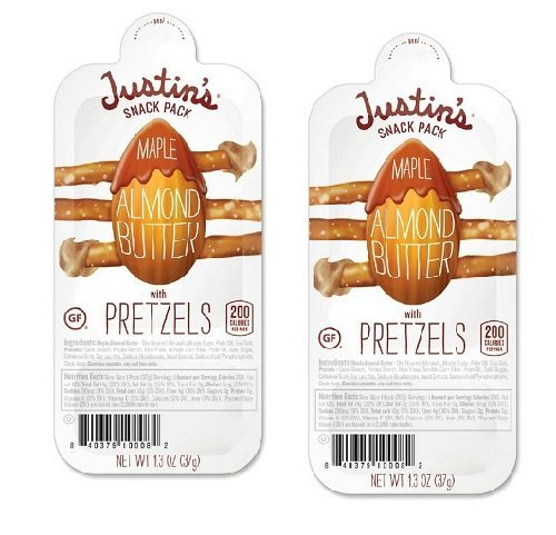 Justin's Snack Pack Maple Almond+ Gluten-Free Pretzels [8 Pack]