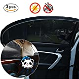 SUNTATOP Car Window Shades,Blocks UV Rays Covers Rear Side Windows,Protects Baby Kids And Pets,Premium Quality Car Sun Shades - Universal- 2Pack