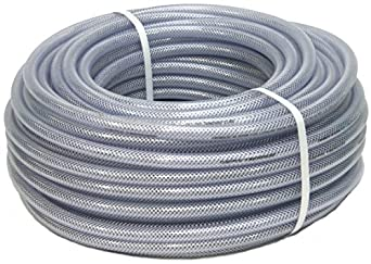 FLEXTUBE TX /Ø 10mm x 3mm 15m lang PVC Schlauch mit Gewebe 3//8 Zoll Lebensmittelecht durchsichtig flexibel Druckschlauch Druckluftschlauch Lebensmittelschlauch Wasserschlauch Luftschlauch