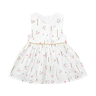 Amazon Hatop Toddler Baby Girls Sleeveless Ruffles Floral