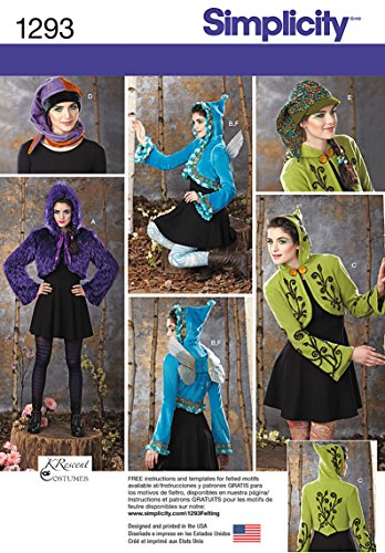 Simplicity Pattern 1293 Misses Jacket, Hat, Wings, Lined Jacket Designs by KRescent -