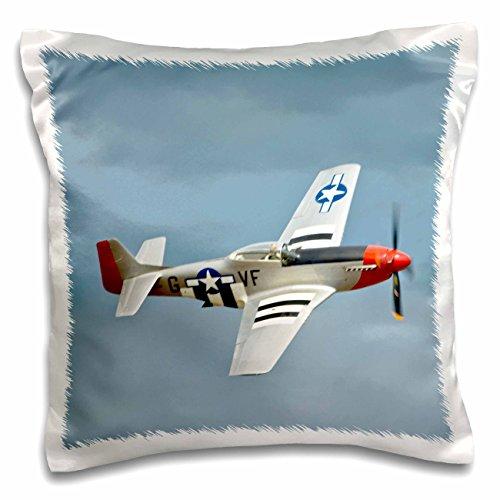 3dRose pc_97103_1 P-51D Mustang Fighter WWII war plane-US50 BFR0014-Bernard Friel-Pillow Case, 16 by (P-51d Mustang Pictures)