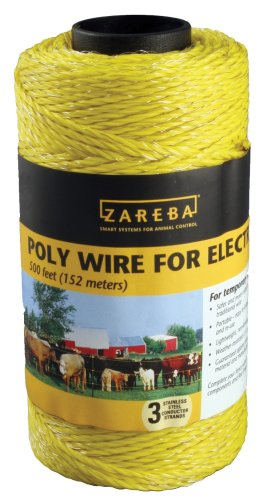 Zareba 500 Feet Yellow Poly Wire  RSW500 - Zareba Wire Fencing