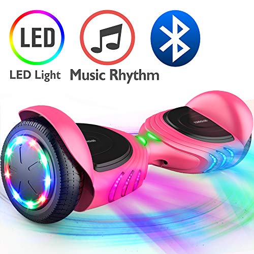 Reviews Shell Pink (TOMOLOO Hoverboard, Electric Self-Balancing Smart Scooter, UL 2272 Certified Hover Board 6.5 Two-Wheel with Music Speaker and LED Light)