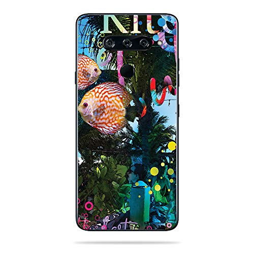MightySkins Skin for LG V40 ThinQ - Psychedelic Vacation | Protective, Durable, and Unique Vinyl Decal wrap Cover | Easy to Apply, Remove, and Change Styles | Made in The USA