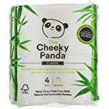 The Cheeky Panda | Natural Bamboo Toilet Tissue | 12 x 4 rolls