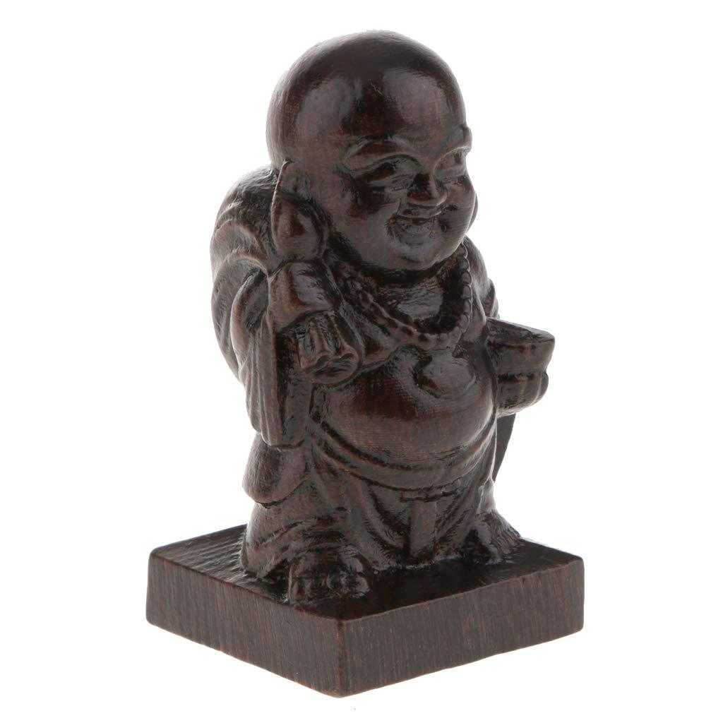 Homyl Chinese Buddha Decorative Figurine Buddhist Statue Home Office Fengshui Decor-Good Blessing Meditation