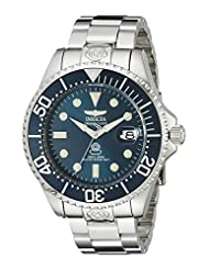 Invicta Men's 18160 Pro Diver Analog Display Japanese Automatic Silver Watch