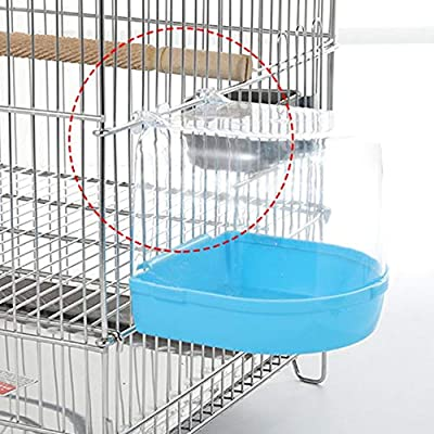 Bañera para baño de Aves para Mascotas Jaula para pájaros ...