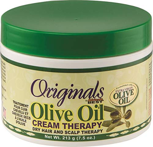 Africas Best Orig Olive Oil Cream Therapy 7.5 Ounce Jar (221ml) (Oil Olive Root Therapy)