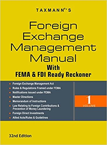Foreign Exchange Management Manual with FEMA & FDI Ready Reckoner