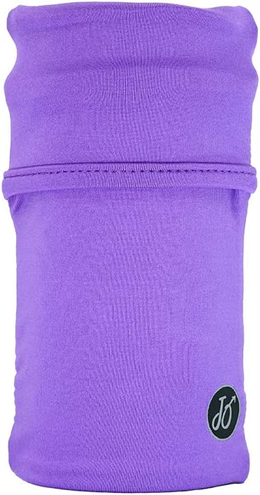 JourneyOut Cell Phone Armband for Runners. Phone Holder Arm Sleeve for Working Out & Exercise. Fits iPhone x xs max xr 8 7 6, Pixel 1 2 2XL 3 3XL, Samsung Galaxy S8 S9 S10 - Purple/Black, MD