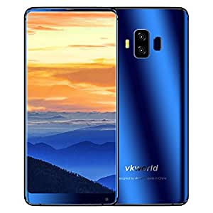 "Vkworld S8 5.99"" FHD+ 18:9 in-cell 2160x1080 Pixels LG display Mobile Phone Android 7.0 MTK6750T Octa Core 4GB RAM 64GB ROM SONY 16MP Dual camera Smartphone (Blue)"