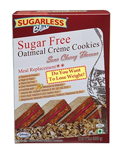 Sugarless Bliss Oatmeal Cream Cookies – Sour Cherry, 200g Carton