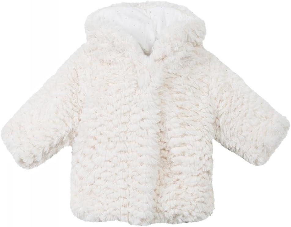 Absorba Manteau à Capuche Fausse Fourrure Blanche bébé