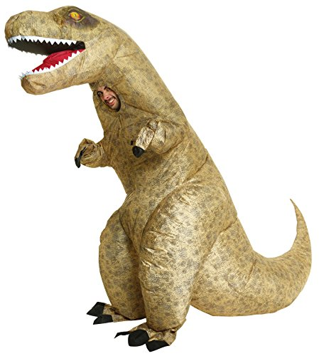 UHC Inflatable T-Rex Dinosaur Outfit Funny Theme Party Halloween Fancy Costume, (Scary T Rex)