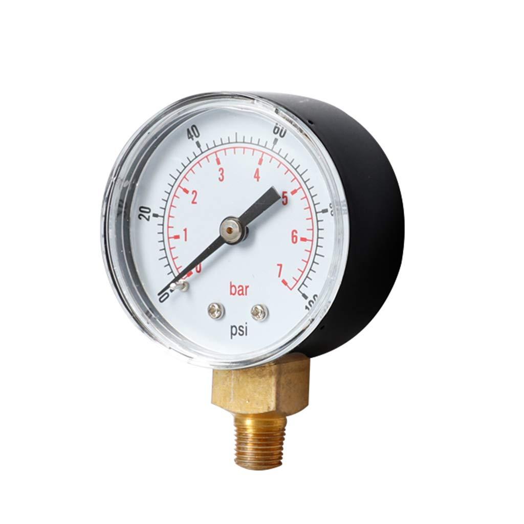 30 160psi 60 150 Nikunty Manometer 52mm 1//4 BSPT vertikal 15 100 300 PSI /& Bar Bodenmontage