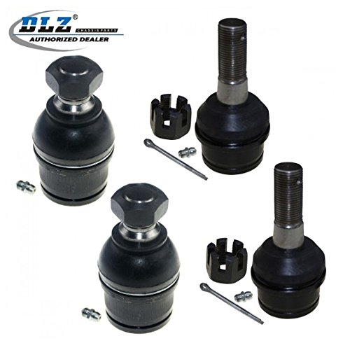 DLZ 4 Pcs Front Lower Upper Ball Joints Compatible with 1994-1999 Dodge Ram 2500 3500 4WD, 1999-2012 Ford F250 F350 Super Duty 4WD 1999-2004 Ford F450 F550 Super Duty 4WD 2000-2005 Ford Excursion 4WD